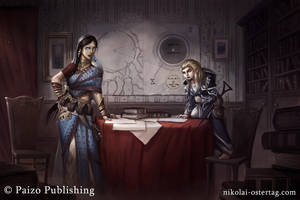 Pathfinder - Rivani and Enora by NikolaiOstertag