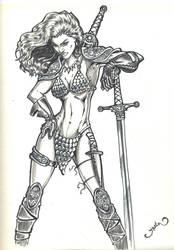 Red Sonja III inked by yasinyayli