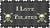 I love Pirates Stamp by StampMakerLKJ
