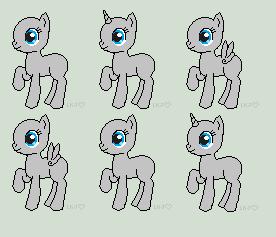 Pixel Pony Adopt Sheet Base F2U by StampMakerLKJ