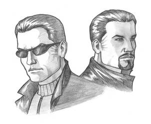 Deus Ex: JC and Paul Denton by AleksiAh