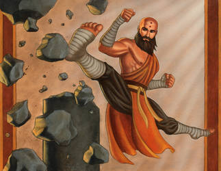 Diablo 3 Monk training by AleksiAh
