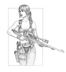 Quiet, a Sniper deprived of her Words by AleksiAh