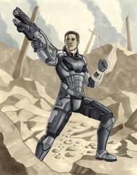 Commander Shepard by AleksiAh