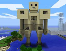Minecraft Golem War Machine by myvideogameworld