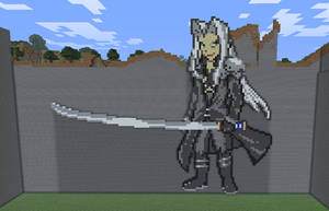 Minecraft Sephiroth Statue by myvideogameworld