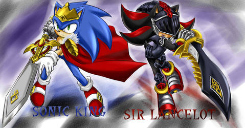 KING and KNIGHT by GaruGiroSonicShadow