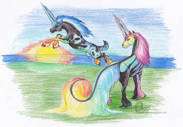 Quirlicorn Joust January 2019 by DamienMuerte