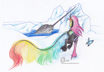 Land Quest - Icy - help a Narwal by DamienMuerte