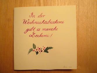 Weihnachtsbaeckerei by Alpacalligraphy