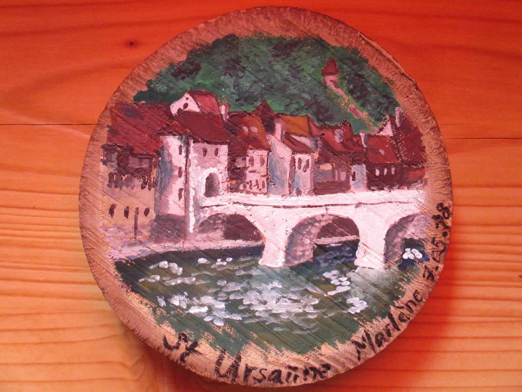 Saint-Ursanne woodpainting by Alpacalligraphy