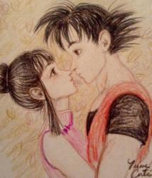 Goku and Chi-Chi/Milk by LatinPrincess17