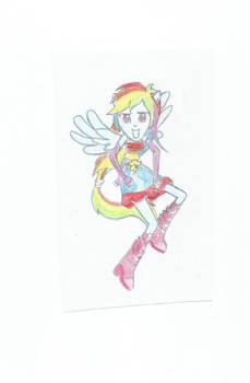 equestria girls rainbow dash by linaaventurera