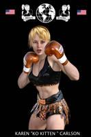 Karen Carlson Poster (Braun Boxing) by bx2000b