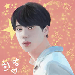 BTS Jin Fan Art by Flopflopflo