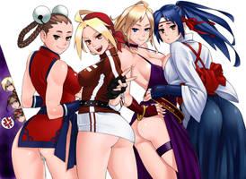 KOF cute girls by solid-zonda