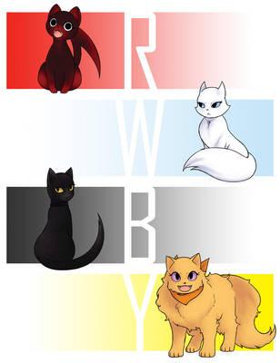RWBY cats - print ed. by SaltyKumquats