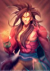 Goku Super Saiyan Level 4 by DasGnomo