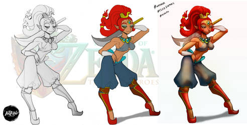 TLOZ The Two Heroes Gerudo Thief Naga Concept by DasGnomo