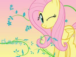 Fluttershy Wallpaper by Swordbeam
