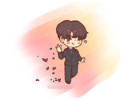 MC Seokjin And His copyright Hearts by XHolyKnightAgrias