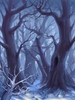 Winter trees by schastlivaya-ch