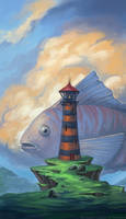 Lighthouse For Fish by schastlivaya-ch