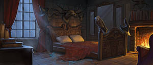Witch's bedroom by schastlivaya-ch