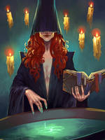 Preparing a potion by schastlivaya-ch