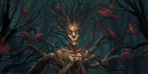 Birds killer creature by schastlivaya-ch
