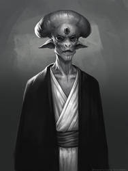 Alien portrait by schastlivaya-ch