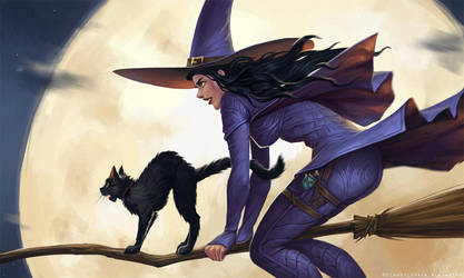 Flying witch by schastlivaya-ch