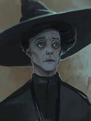 Professor McGonagall sketch by schastlivaya-ch