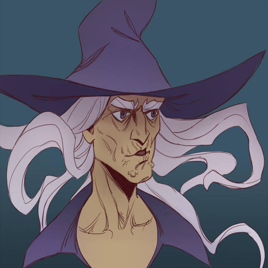 Witch - the sketch by schastlivaya-ch