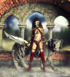 Sentouki The Fantasy Warrior Outfit by deathbycanon