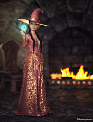 Autumn Witch by deathbycanon