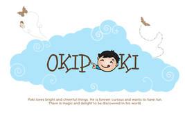 Oki Poki Logo by littleboxofideas