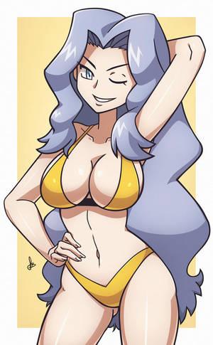 Karen - Pokemon HGSS [Commission] by dmy-gfx