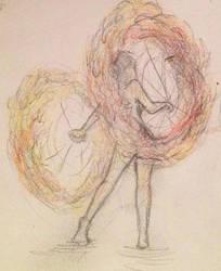 Fire dancer by pinkminx09