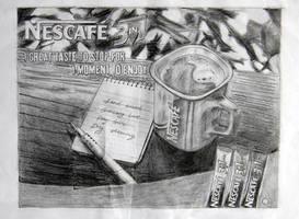 Nescafe ad on pencils by appledaniels