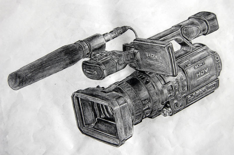 Camcorder on Pencils 2 by appledaniels
