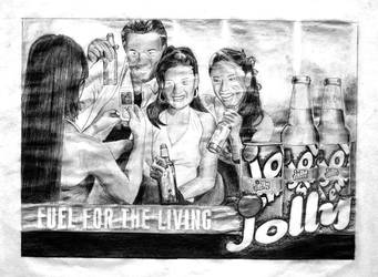 Jolly Shandy ad on pencils by appledaniels
