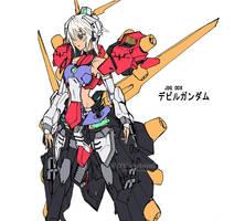 Devil Gundam Mecha Musume by wdy1000