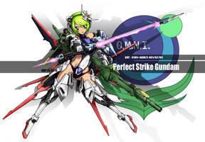 perfect strike gundam mecha musume by wdy1000