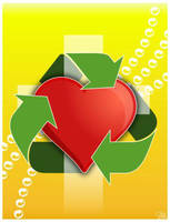 Recycled heart by christians