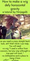 Horizontal Wig tutorial by ninjagal6