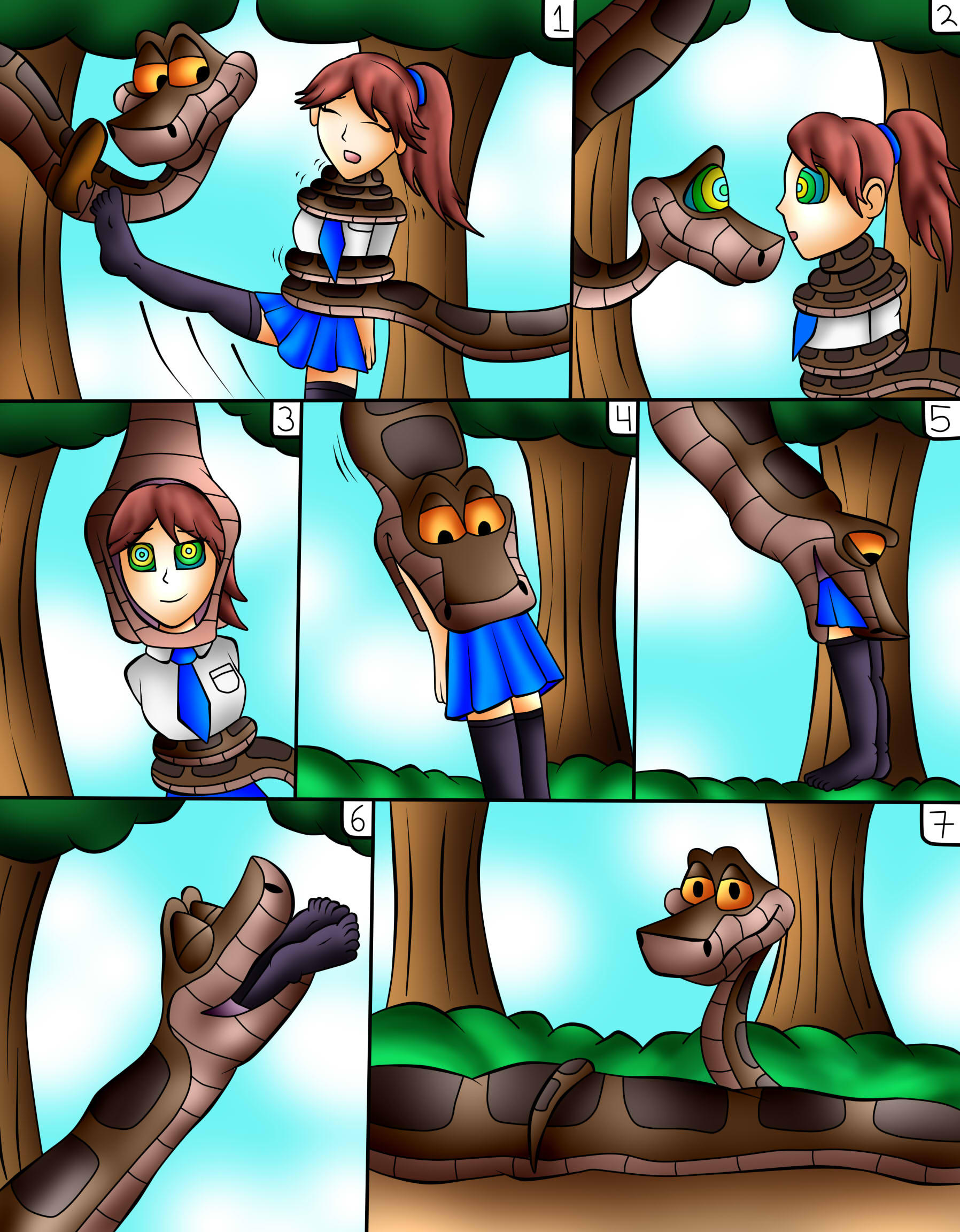 (commision) Kaa Vore School Girl by jerrydestrtoyer on