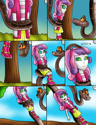 (commision) kaa and sweetie belle EG page 2 by jerrydestrtoyer