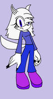 Nightmare the Arctic Wolf :old: by BluethornWolf