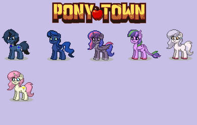 Pony Town Characters I made so far by BluethornWolf